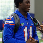 University of Florida Gators linebacker Vosean Joseph as the Gators hold their annual fan day, signing autographs and mingling with the fans.  August 19th, 2017.  Gator Country photo by David Bowie.