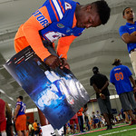 University of Florida Gators wide receiver Brandon Powell as the Gators hold their annual fan day, signing autographs and mingling with the fans.  August 19th, 2017.  Gator Country photo by David Bowie.