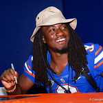 University of Florida Gators wide receiver Dre Massey as the Gators hold their annual fan day, signing autographs and mingling with the fans.  August 19th, 2017.  Gator Country photo by David Bowie.