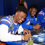 University of Florida Gators linebacker Kylan Johnson as the Gators hold their annual fan day, signing autographs and mingling with the fans.  August 19th, 2017.  Gator Country photo by David Bowie.