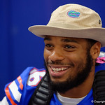 University of Florida Gators defensive lineman Cece Jefferson as the Gators hold their annual fan day, signing autographs and mingling with the fans.  August 19th, 2017.  Gator Country photo by David Bowie.