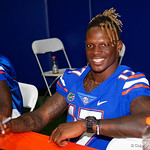 University of Florida Gators athlete Kadarius Toney as the Gators hold their annual fan day, signing autographs and mingling with the fans.  August 19th, 2017.  Gator Country photo by David Bowie.