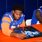 University of Florida Gators offensive lineman Antonio Riles as the Gators hold their annual fan day, signing autographs and mingling with the fans.  August 19th, 2017.  Gator Country photo by David Bowie.