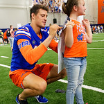 University of Florida Gators quarterback Feleipe Franks as the Gators hold their annual fan day, signing autographs and mingling with the fans.  August 19th, 2017.  Gator Country photo by David Bowie.