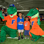 Albert and Alberta take photos with the fans as the Gators hold their annual fan day, signing autographs and mingling with the fans.  August 19th, 2017.  Gator Country photo by David Bowie.