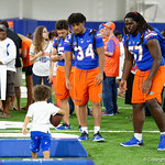 University of Florida Gators linebacker Lacedrick Brunson and University of Florida Gators defensive end Elijah Conliffe as the Gators hold their annual fan day, signing autographs and mingling with the fans.  August 19th, 2017.  Gator Country photo by David Bowie.