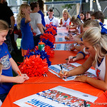 Florida Gators Cheerleaders as the Gators hold their annual fan day, signing autographs and mingling with the fans.  August 19th, 2017.  Gator Country photo by David Bowie.