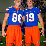 University of Florida Gators punter Tommy Townsend and University of Florida Gators punter Johnny Townsend as the Gators hold their annual fan day, signing autographs and mingling with the fans.  August 19th, 2017.  Gator Country photo by David Bowie.