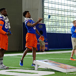 University of Florida Gators tight end Kemore Gamble and University of Florida Gators cornerback CJ Henderson as the Gators hold their annual fan day, signing autographs and mingling with the fans.  August 19th, 2017.  Gator Country photo by David Bowie.