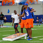 University of Florida Gators cornerback Marco Wilson and University of Florida Gators defensive back Shawn Davis as the Gators hold their annual fan day, signing autographs and mingling with the fans.  August 19th, 2017.  Gator Country photo by David Bowie.