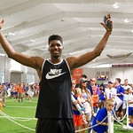 Univeristy of Florida Gators forward Kevarrius Hayes as the Gators hold their annual fan day, signing autographs and mingling with the fans.  August 19th, 2017.  Gator Country photo by David Bowie.