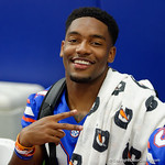 University of Florida Gators defensive back McArthur Burnett as the Gators hold their annual fan day, signing autographs and mingling with the fans.  August 19th, 2017.  Gator Country photo by David Bowie.