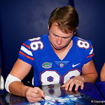 University of Florida Gators punter Jacob Finn as the Gators hold their annual fan day, signing autographs and mingling with the fans.  August 19th, 2017.  Gator Country photo by David Bowie.