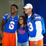University of Florida Gators defensive back Brian Edwards and University of Florida Gators safety Donovan Stiner as the Gators hold their annual fan day, signing autographs and mingling with the fans.  August 19th, 2017.  Gator Country photo by David Bowie.