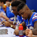 University of Florida Gators defensive back Chauncey Gardner, Jr. as the Gators hold their annual fan day, signing autographs and mingling with the fans.  August 19th, 2017.  Gator Country photo by David Bowie.