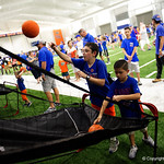 Young Florida Gators fans play hoops as the Gators hold their annual fan day, signing autographs and mingling with the fans.  August 19th, 2017.  Gator Country photo by David Bowie.