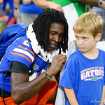 University of Florida Gators wide receiver James Robinson as the Gators hold their annual fan day, signing autographs and mingling with the fans.  August 19th, 2017.  Gator Country photo by David Bowie.