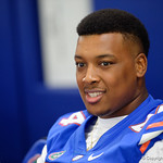 University of Florida Gators defensive lineman Khairi Clark as the Gators hold their annual fan day, signing autographs and mingling with the fans.  August 19th, 2017.  Gator Country photo by David Bowie.
