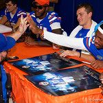 University of Florida Gators wide receiver Josh Hammond high fives a fan as the Gators hold their annual fan day, signing autographs and mingling with the fans.  August 19th, 2017.  Gator Country photo by David Bowie.