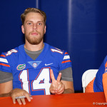 University of Florida Gators quarterback Luke Del Rio as the Gators hold their annual fan day, signing autographs and mingling with the fans.  August 19th, 2017.  Gator Country photo by David Bowie.