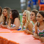 The Florida Gators Dazzlers as the Gators hold their annual fan day, signing autographs and mingling with the fans.  August 19th, 2017.  Gator Country photo by David Bowie.