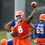 Florida Gators quarterback Malik Zaire as the Gators run through practice drills during the Gators second fall practice of the 2017 season.  August 4th, 2017.  Gator Country photo by David Bowie.