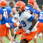 Florida Gators defensive lineman Jachai Polite as the Gators run through practice drills during the Gators second fall practice of the 2017 season.  August 4th, 2017.  Gator Country photo by David Bowie.