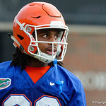Florida Gators wide receiver Tyrie Cleveland as the Gators run through practice drills during the Gators second fall practice of the 2017 season.  August 4th, 2017.  Gator Country photo by David Bowie.