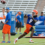 Florida Gators wide receiver Dre Massey as the Gators run through practice drills during the Gators second fall practice of the 2017 season.  August 4th, 2017.  Gator Country photo by David Bowie.