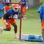 Florida Gators running back Adarius Lemons as the Gators run through practice drills during the Gators second fall practice of the 2017 season.  August 4th, 2017.  Gator Country photo by David Bowie.