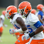 Florida Gators defensive lineman Keivonnis Davis as the Gators run through practice drills during the Gators second fall practice of the 2017 season.  August 4th, 2017.  Gator Country photo by David Bowie.