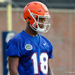 Florida Gators wide receiver Daquon Green as the Gators run through practice drills during the Gators second fall practice of the 2017 season.  August 4th, 2017.  Gator Country photo by David Bowie.