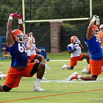 Florida Gators offensive lineman Richerd Desir-Jones as the Gators run through practice drills during the Gators second fall practice of the 2017 season.  August 4th, 2017.  Gator Country photo by David Bowie.