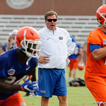 Florida Gators Head Coach Jim McElwain as the Gators run through practice drills during the Gators second fall practice of the 2017 season.  August 4th, 2017.  Gator Country photo by David Bowie.