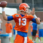 Florida Gators quarterback Feleipe Franks as the Gators run through practice drills during the Gators second fall practice of the 2017 season.  August 4th, 2017.  Gator Country photo by David Bowie.