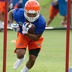 Florida Gators running back Tyriek Hopkins as the Gators run through practice drills during the Gators second fall practice of the 2017 season.  August 4th, 2017.  Gator Country photo by David Bowie.