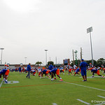 The Florida Gators football team runs through practice drills during the Gators second fall practice of the 2017 season.  August 4th, 2017.  Gator Country photo by David Bowie.