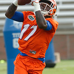 Florida Gators ATH Kadarius Toney as the Gators run through practice drills during the Gators second fall practice of the 2017 season.  August 4th, 2017.  Gator Country photo by David Bowie.