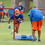 Florida Gators running back Malik Davis as the Gators run through practice drills during the Gators second fall practice of the 2017 season.  August 4th, 2017.  Gator Country photo by David Bowie.