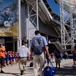 University of Florida Gators quarterback Feleipe Franks as the Gators walk into EverBank Field for an SEC rivalry game against the University of Georgia Bulldogs in Jacksonville, Florida.  October 28th, 2017.  Gator Country photo by David Bowie.