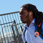 University of Florida Gators defensive back Shawn Davis as the Gators walk into EverBank Field for an SEC rivalry game against the University of Georgia Bulldogs in Jacksonville, Florida.  October 28th, 2017.  Gator Country photo by David Bowie.