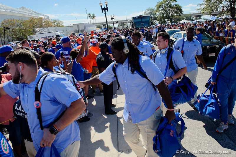 University of Florida Gators Football Gator Walk Georgia Bulldogs EverBank Field