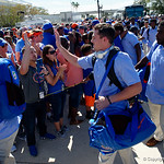 University of Florida Gators punter Johnny Townsend as the Gators walk into EverBank Field for an SEC rivalry game against the University of Georgia Bulldogs in Jacksonville, Florida.  October 28th, 2017.  Gator Country photo by David Bowie.