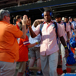 University of Florida Gators wide receiver Daquon Green as the Gators walk into and across Steve Suprrier Field at  Ben Hill Griffin Stadium during Gator Walk for a game against the Texas A&M Aggies.  October 14th, 2017.  Gator Country photo by David Bowie.