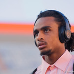 University of Florida Gators wide receiver Tyrie Cleveland as the Gators walk into and across Steve Suprrier Field at  Ben Hill Griffin Stadium during Gator Walk for a game against the Texas A&M Aggies.  October 14th, 2017.  Gator Country photo by David Bowie.