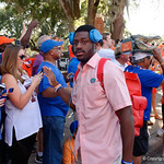 University of Florida Gators wide receiver Josh Hammond as the Gators walk into and across Steve Suprrier Field at  Ben Hill Griffin Stadium during Gator Walk for a game against the Texas A&M Aggies.  October 14th, 2017.  Gator Country photo by David Bowie.