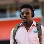 University of Florida Gators defensive end Zachary Carter as the Gators walk into and across Steve Suprrier Field at  Ben Hill Griffin Stadium during Gator Walk for a game against the Texas A&M Aggies.  October 14th, 2017.  Gator Country photo by David Bowie.