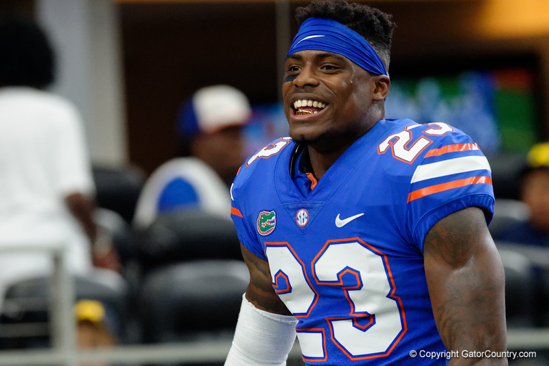 University of Florida Gators defensive back Chauncey Gardner, Jr. during pre-gamef of the 2017 Advocare Classic at AT&T Stadium in Dallas, Texas as the Florida Gators take on the Michigan Wolverines. September 2nd, 2017.  Gator Country photo by David Bowie.