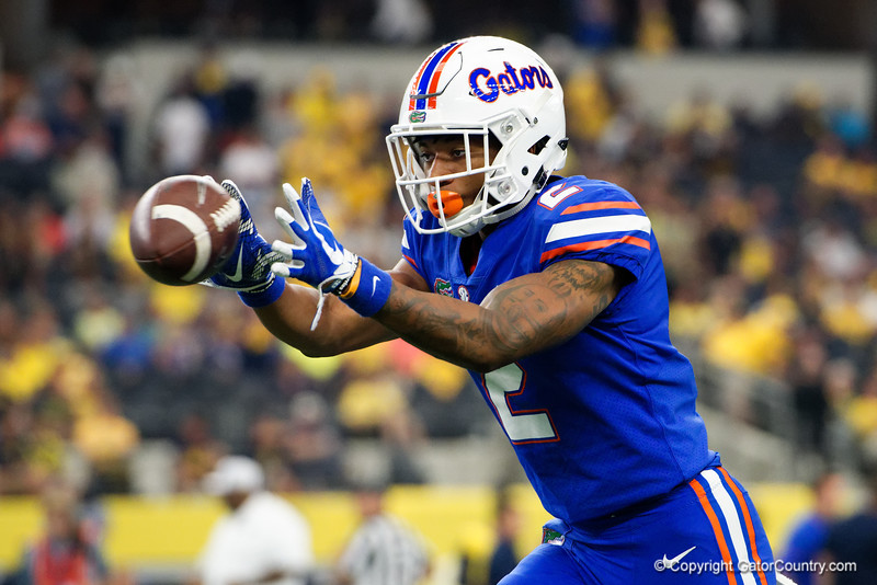 University of Florida Gators defenive back Brad Stewart during pre-gamef of the 2017 Advocare Classic at AT&T Stadium in Dallas, Texas as the Florida Gators take on the Michigan Wolverines. September 2nd, 2017.  Gator Country photo by David Bowie.