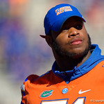 University of Florida Gators offensive lineman Antonio Riles during senior day festivities in which the Gators lost 38-22 to the Florida State Seminoles at  Ben Hill Griffin Stadium in Gainesville, Florida. November 25th, 2017.  Gator Country photo by David Bowie.